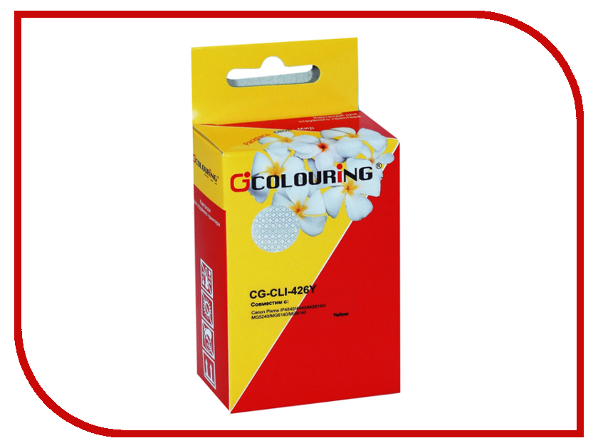 Картридж Colouring CG-CLI-426Y Yellow для Canon IP4840/MG5140/MG5240/MG6140/MG8140 картридж colouring cg cli 521bk black для canon ip3600 ip4600 mp540 mp620 mp630 mp980