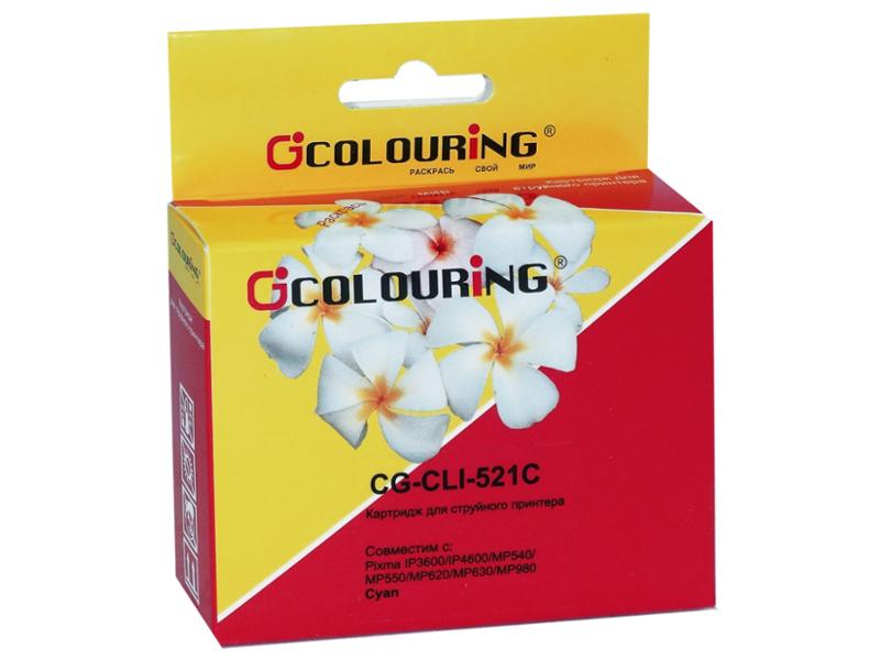 Аксессуар Colouring CG-CLI-521C Cyan для Canon IP3600/IP4600/MP540/MP550/MP620/MP630/MP980
