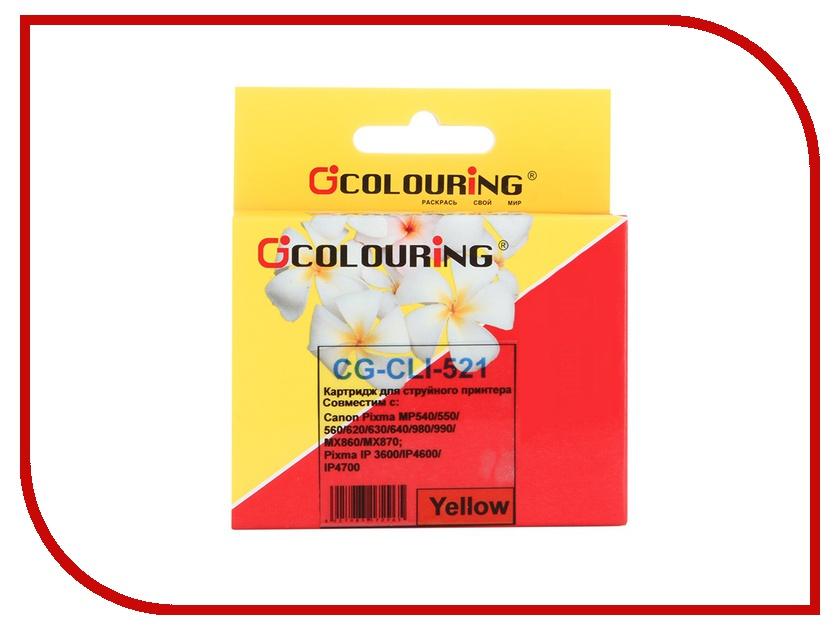 Картридж Colouring CG-CLI-521Y Yellow для Canon IP3600/IP4600/MP540/MP550/MP620/MP630/MP980<br>