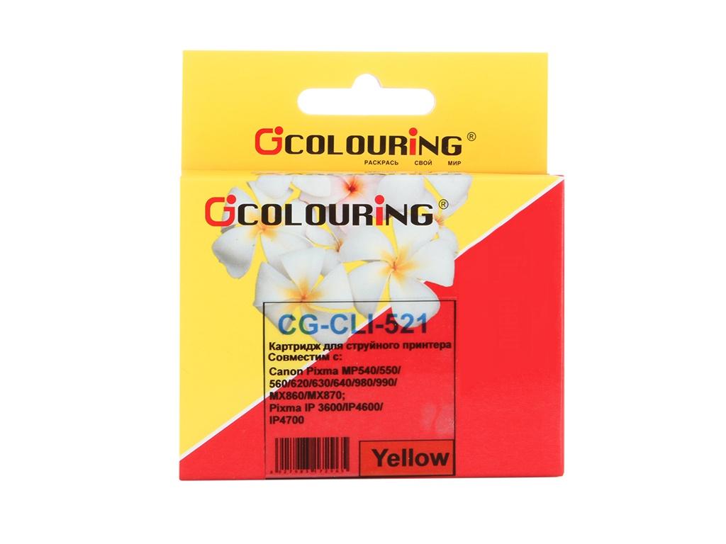 Аксессуар Colouring CG-CLI-521Y Yellow для Canon IP3600/IP4600/MP540/MP550/MP620/MP630/MP980