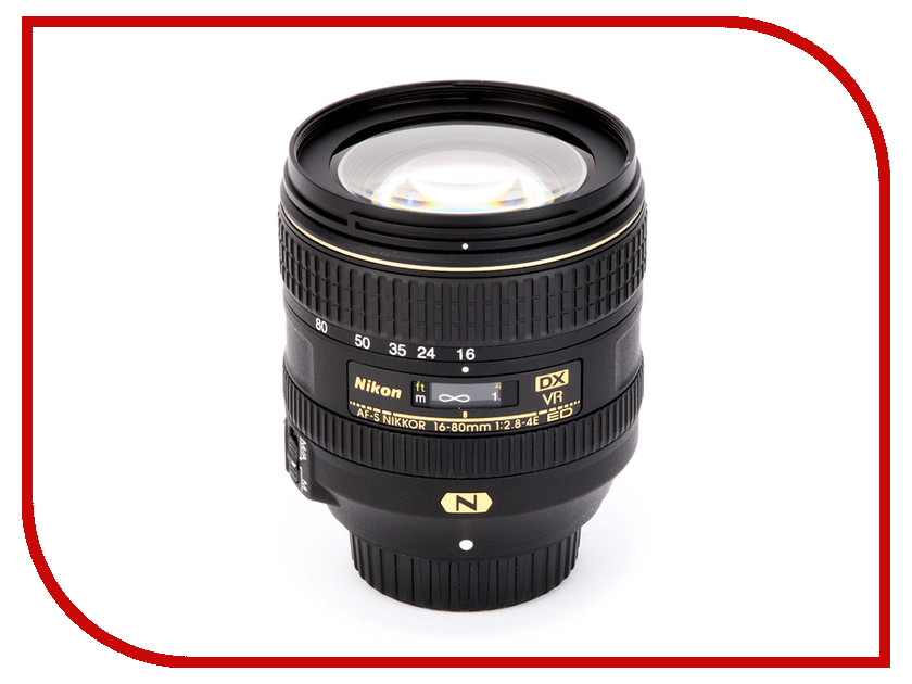 Объектив Nikon Nikkor AF-S DX 16-80 mm f/2.8-4E ED VR объектив sigma af 19 mm f 2 8 dn art for micro four thirds black