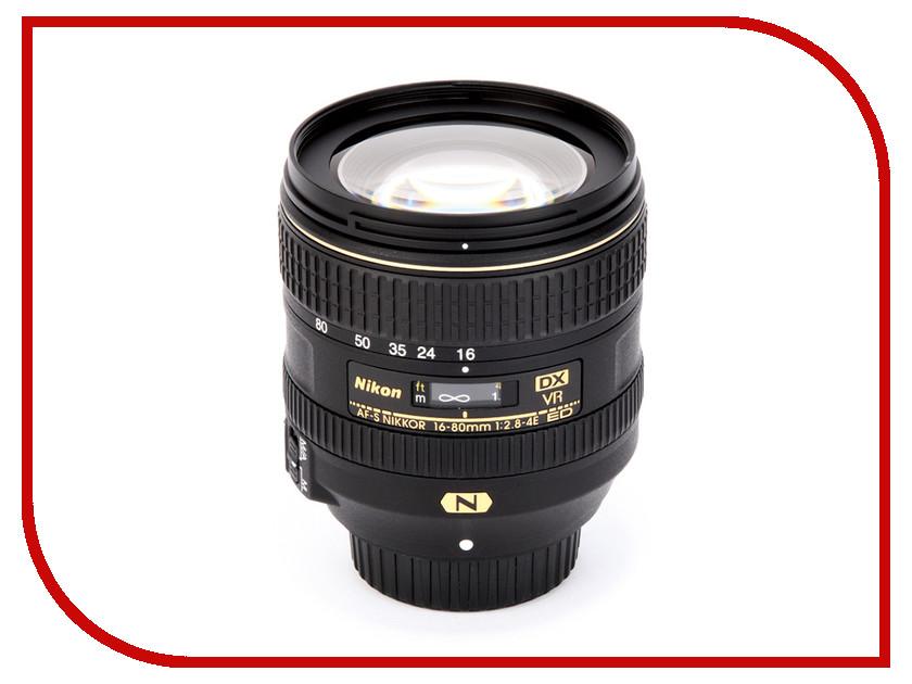 Объектив Nikon Nikkor AF-S DX 16-80 mm f/2.8-4E ED VR nikon nikon af s nikkor 28mm f 1 8g фиксированный фокус широкоугольный объектив
