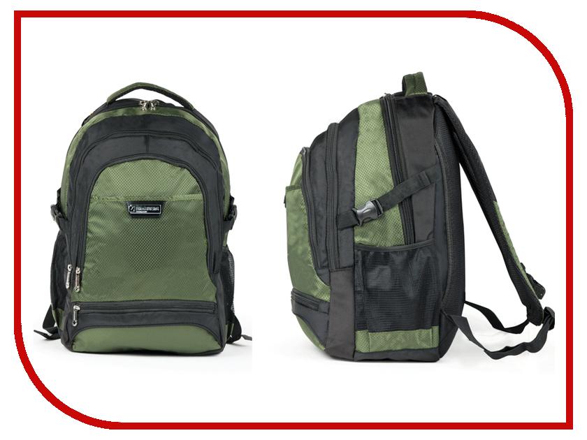 Рюкзак BRAUBERG SR-1 Black-Green 224449