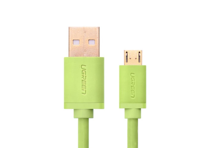 Аксессуар Ugreen Premium USB 2.0 to Micro USB 1m Green UG-10876