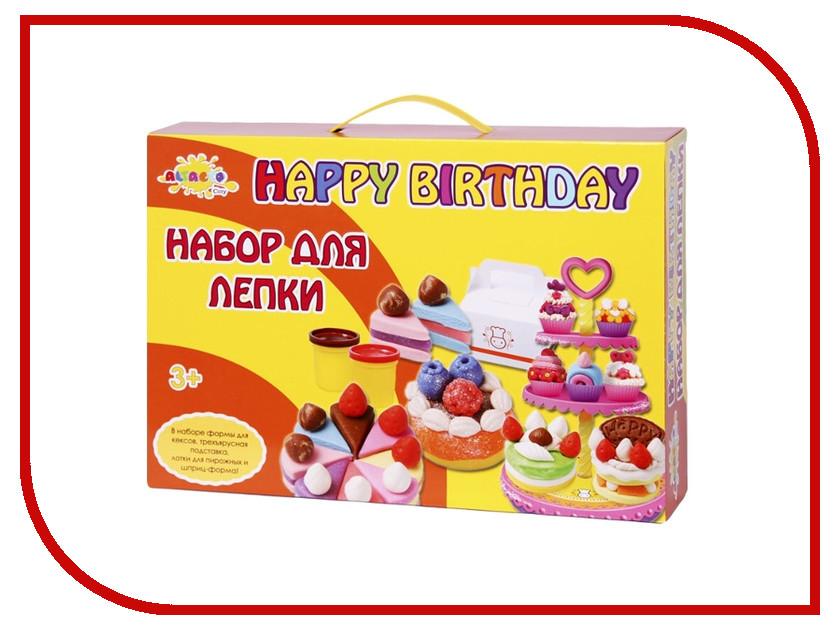 Набор для лепки Altacto Clay Волшебство кулинарии - веселый День Рождения 4 цвета