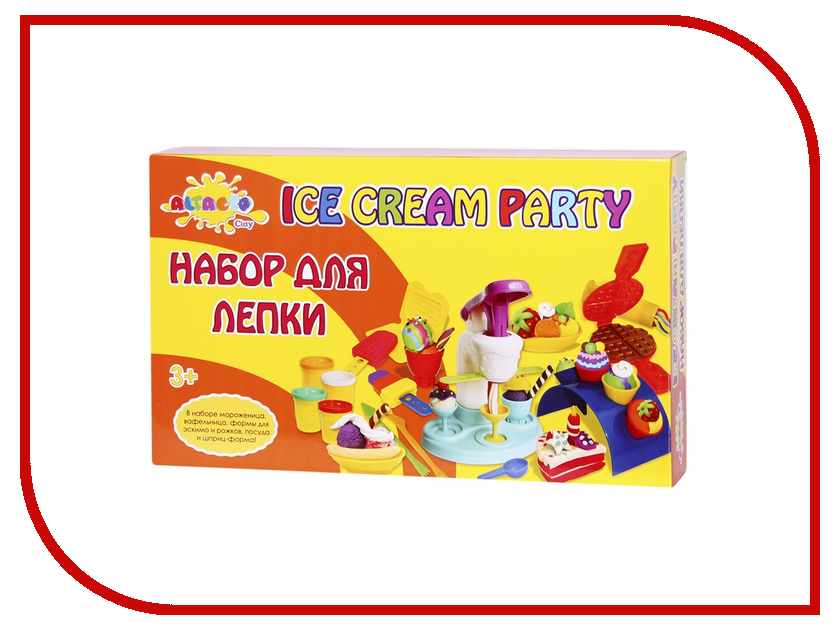 Набор для лепки Altacto Clay Волшебство кулинарии - Вечеринка с мороженым 6 цветов