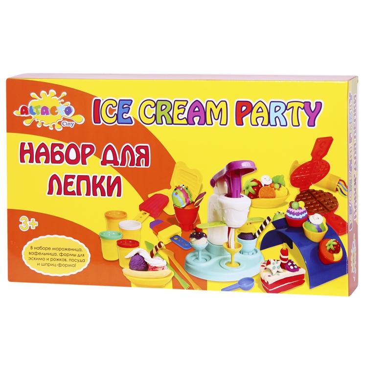 Набор Altacto Clay Набор для лепки Волшебство кулинарии - Вечеринка с мороженым 6 цветов<br>