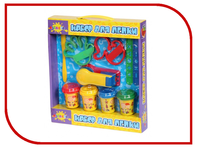 Набор для лепки Altacto Clay Мини фабрика 4 цвета<br>