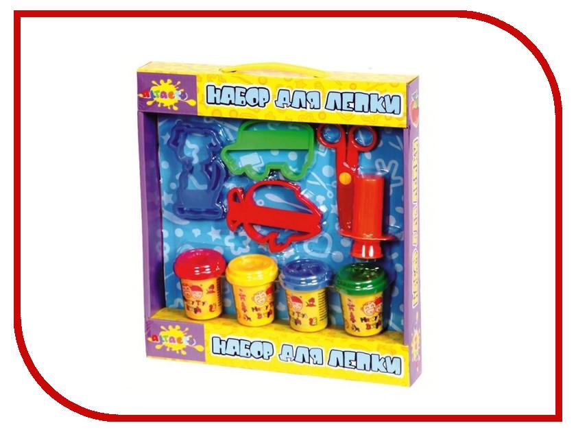 Набор для лепки Altacto Clay с трафаретом 4 цвета
