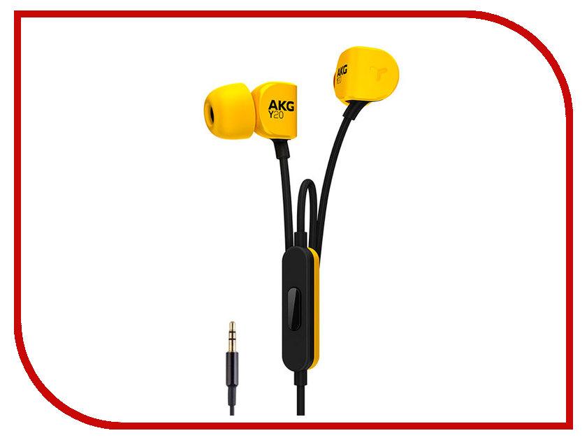 AKG Y20U Yellow bluetooth гарнитура akg y 45bt black