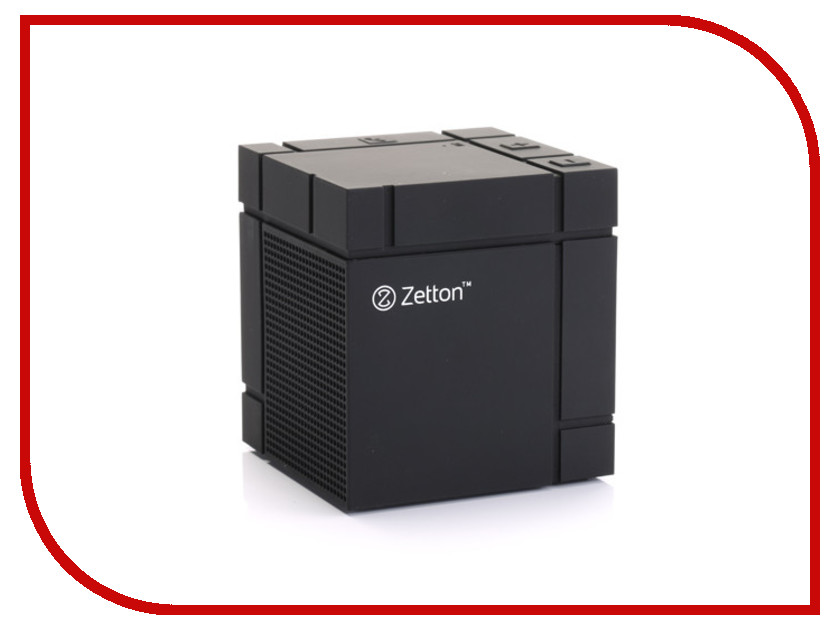������� Zetton Large Cube Soft Touch Black ZTBSBCUBFB
