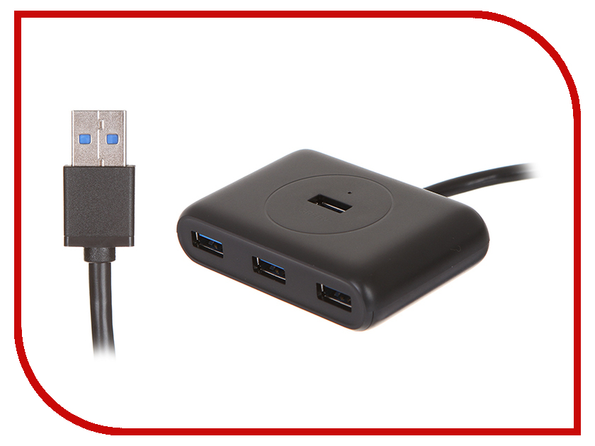 Хаб USB Ugreen UG-20291 USB 3.0 4 ports 0.8m Black<br>