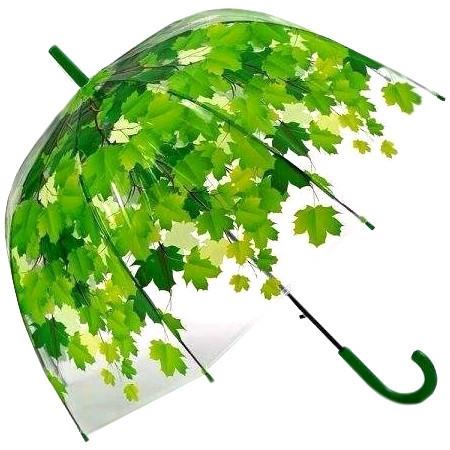 лучшая цена Зонт Эврика Листья Green 96566