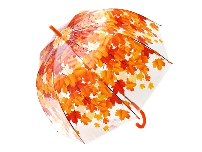 Зонт Эврика Листья Red 96565