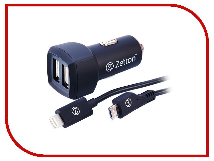Зарядное устройство Zetton ZTCC3A2UA8MC<br>