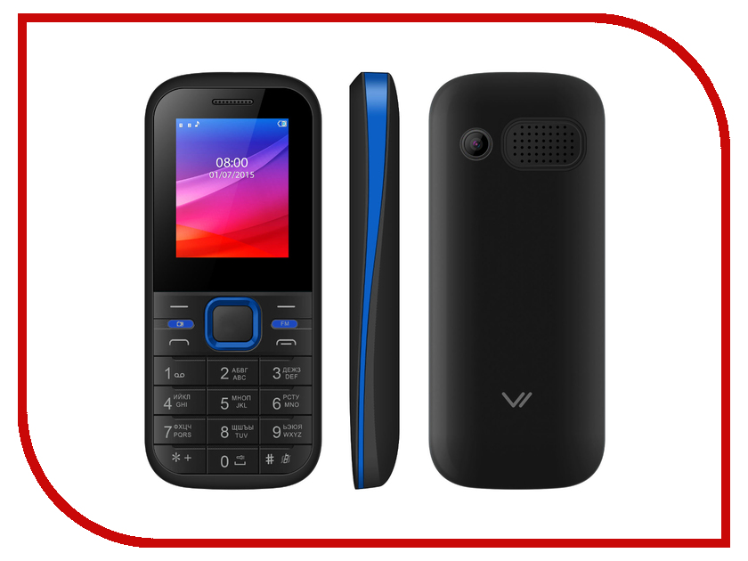 Сотовый телефон Vertex M102 Black