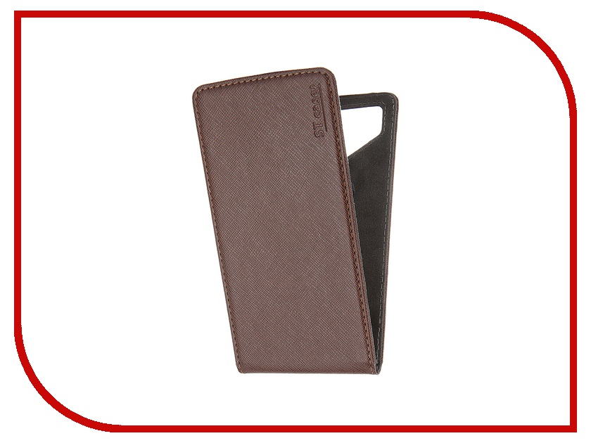 Аксессуар Чехол ST Case 5.5-6 иск.кожа Brown ST c –SMFL5.5-6-BRN-LTH<br>
