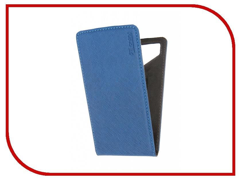 Аксессуар Чехол ST Case 5.5-6 иск.кожа Blue ST c –SMFL5.5-6-BLU-LTH