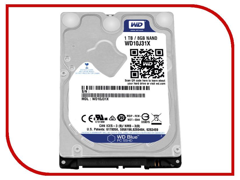 Жесткий диск 1Tb - Western Digital WD Blue SSHD WD10J31X
