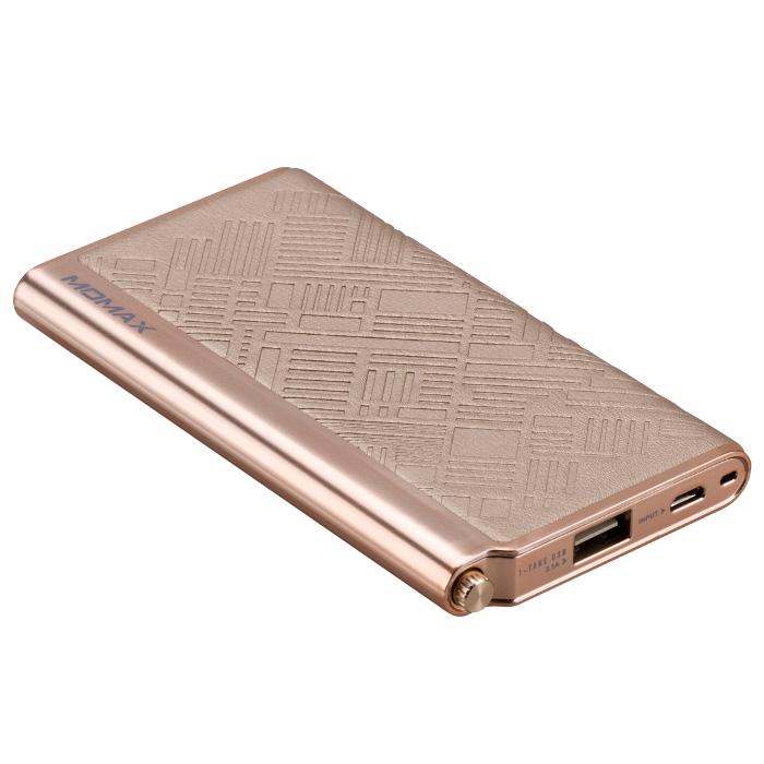 Аккумулятор MOMAX iPower Elite 5000mAh Emboss Gold