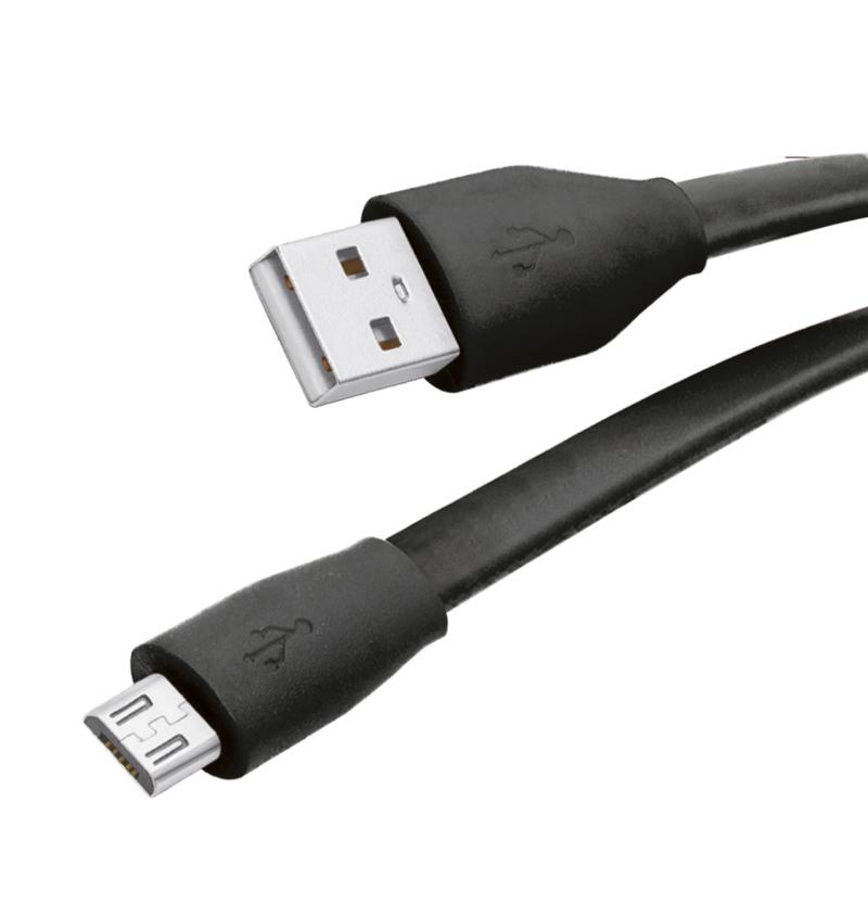 Аксессуар Partner USB 2.0 M - microUSB M 1м ПР032978 Black