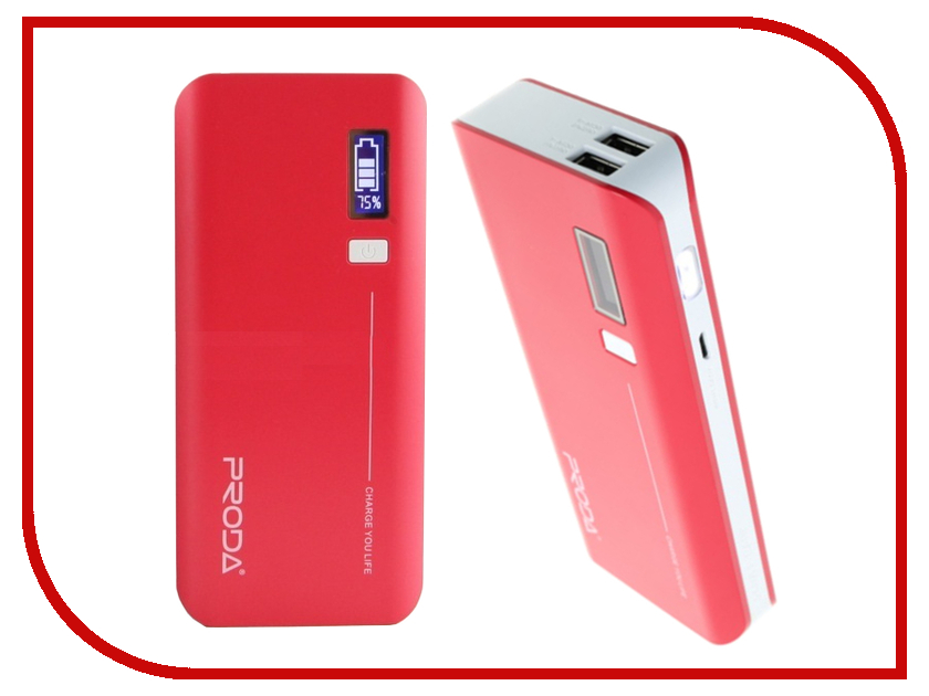 Аккумулятор Remax Power Bank V10i Proda Jane Series 20000mAh Red аккумулятор remax power bank proda power box 20000mah black