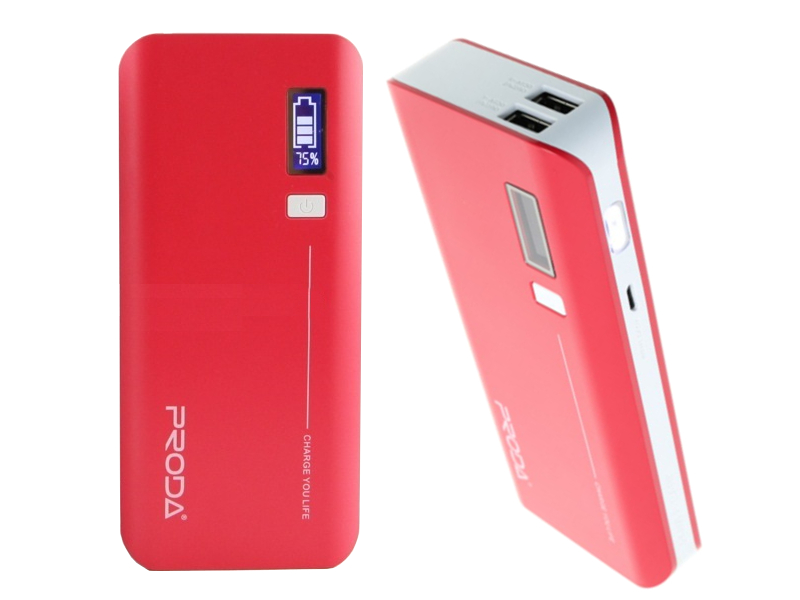 Аккумулятор Remax Power Bank V10i Proda Jane Series 20000 mAh Red