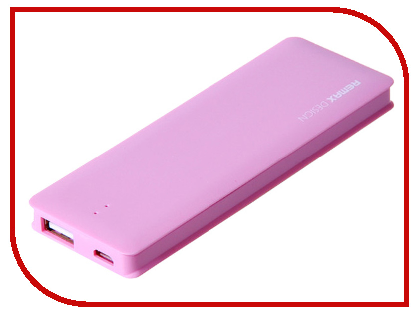Аккумулятор Remax Power Bank Candy bar 5000 mAh Pink<br>