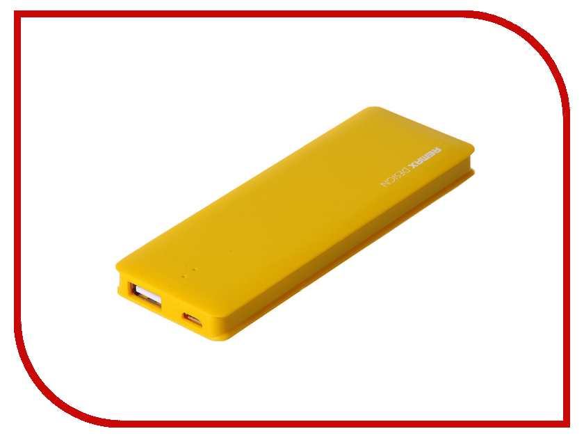 Аккумулятор Remax Power Bank Candy bar 5000 mAh Yellow