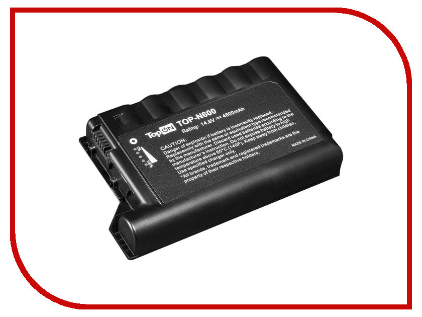 Аккумулятор TopON TOP-N600 14.8V 4800mAh Black for HP Compaq EVO N600/N600C/N610C/N610V/N620C Series<br>