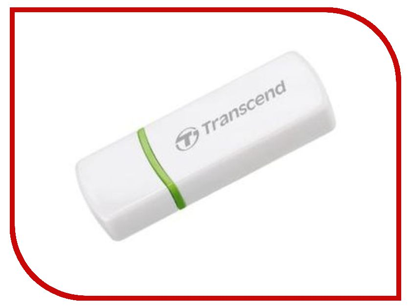 Карт-ридер Transcend Compact Card Reader P5 TS-RDP5W White карт ридер transcend multy card reader usb 3 0 ts rdf8k black