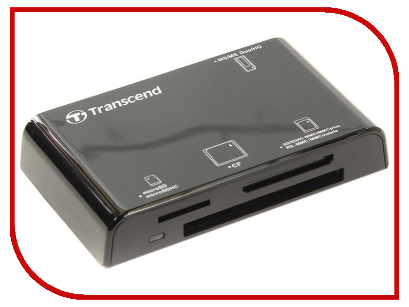 Карт-ридер Transcend Compact Card Reader P8 TS-RDP8K Black цена 2017