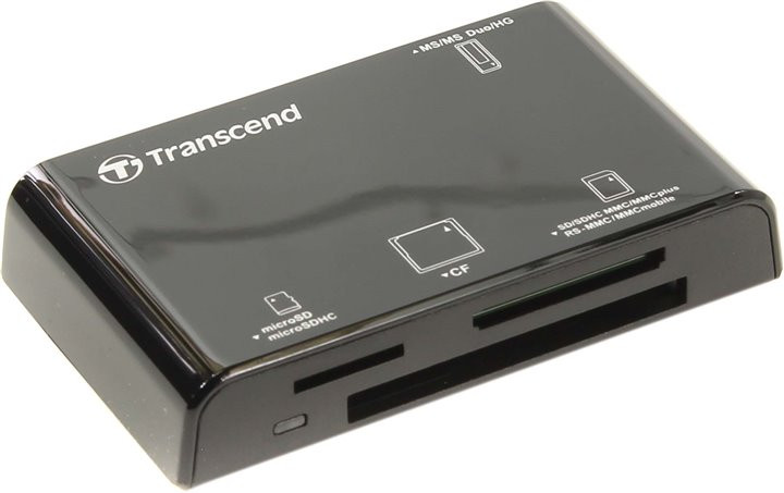 Карт-ридер Transcend Compact Card Reader P8 TS-RDP8K Black цена и фото