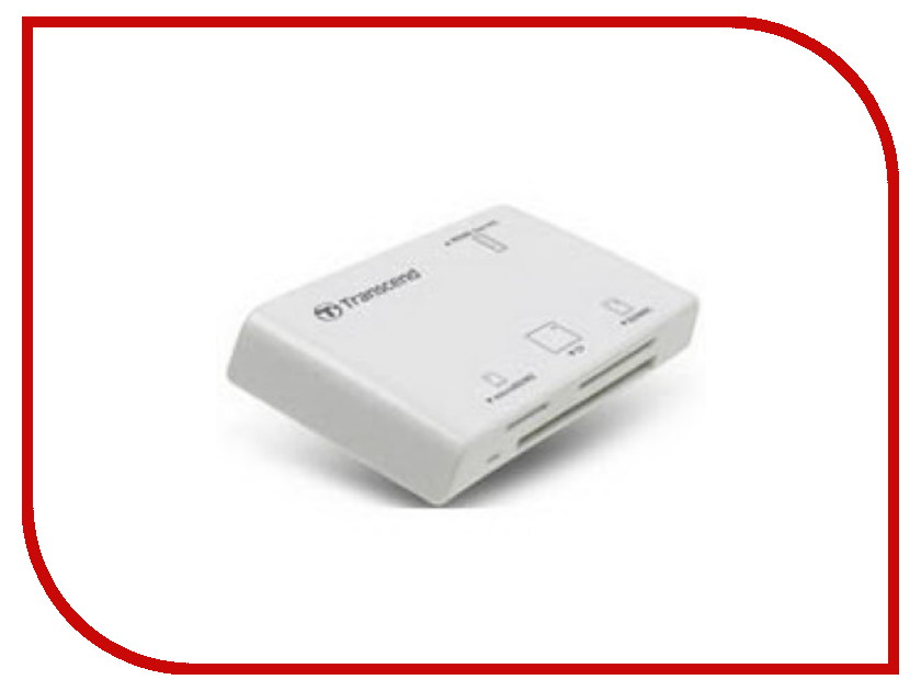 Карт-ридер Transcend Compact Card Reader P8 TS-RDP8W White