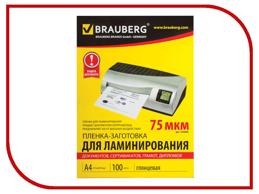 Пленка для ламинатора BRAUBERG А4 100шт 530800