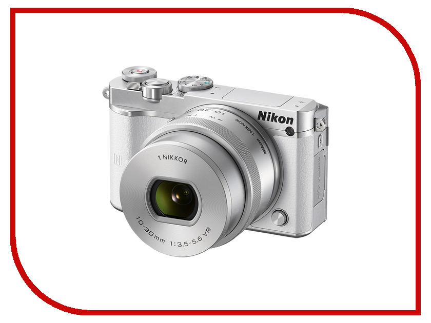 Фотоаппарат Nikon 1 J5 Kit 10-30 mm F/3.5-5.6 VR PD-Zoom White-Silver<br>