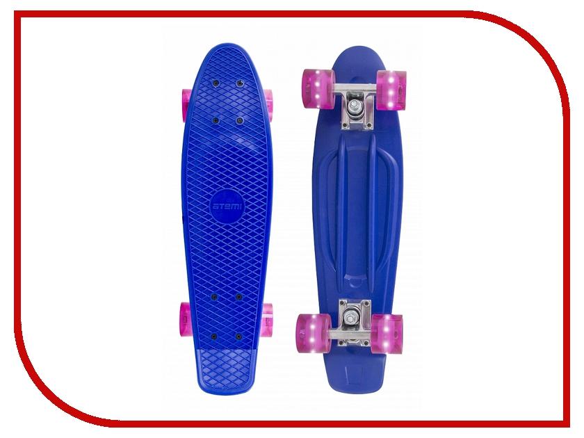 Скейт Atemi Penny Board APB-2.15 Dark Blue пенниборд atemi apb 17 09