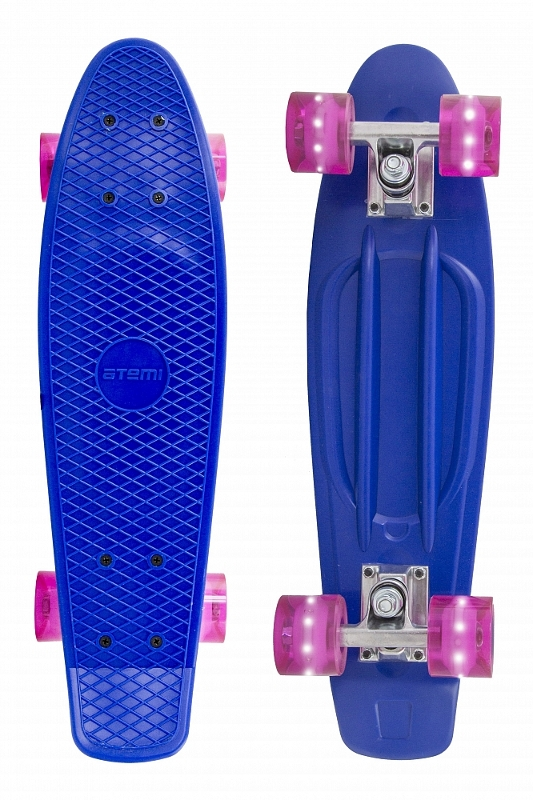 Скейт Atemi Penny Board APB-2.15 Dark Blue скейт explore esprit dark blue