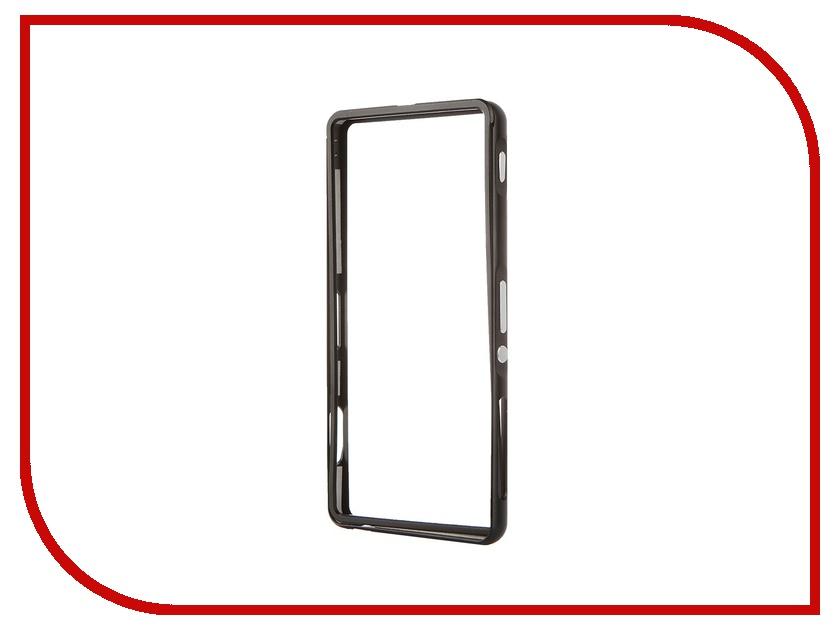 ��������� �����-������ Sony Xperia Z3 BROSCO Black Z3-BUMPER-01-BLACK