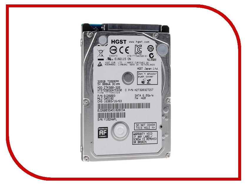 Жесткий диск 320Gb - HGST / Hitachi Travelstar Z7K500 HTS725032A7E630 / 0J26003