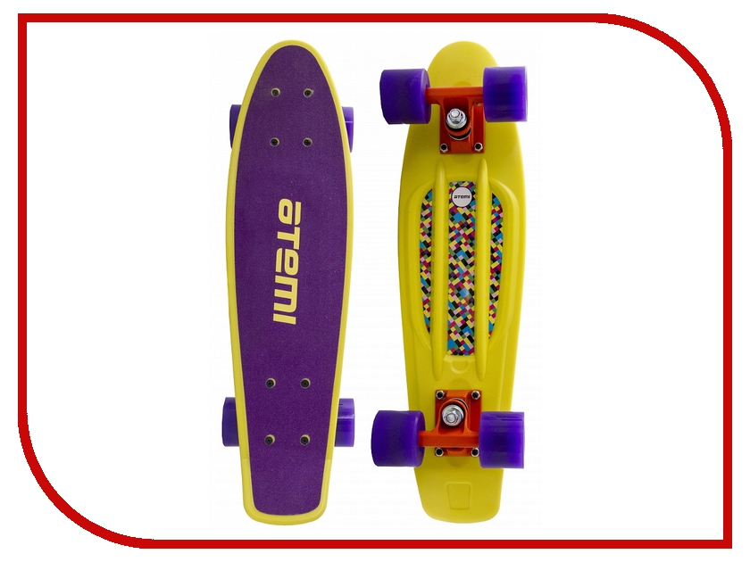 Скейт Atemi Penny Board APB-8.15 Violet-Yellow