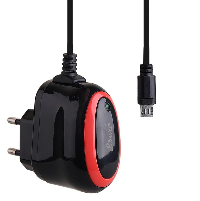 Зарядное устройство Brera Classic micro USB 2A Black-Red 47229