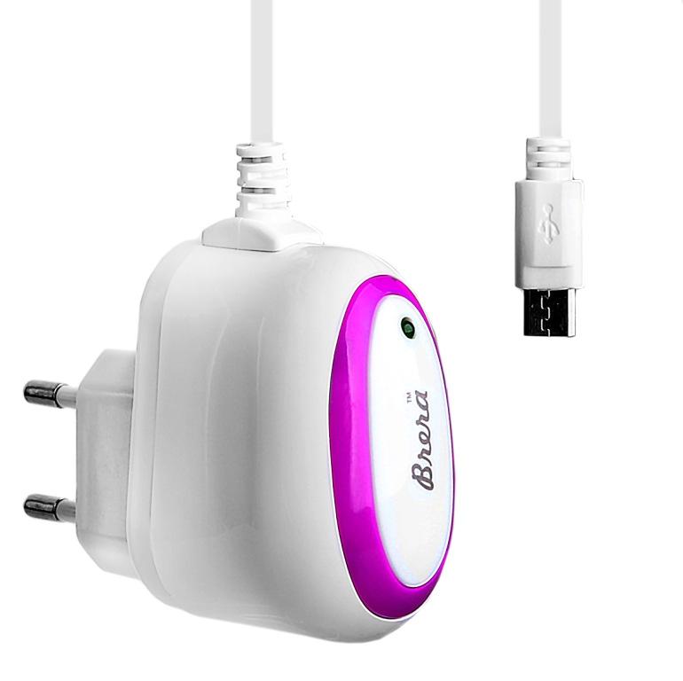 Зарядное устройство Brera Classic micro USB 1A White-Rose 47224