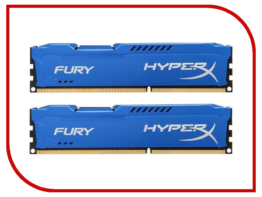 все цены на Модуль памяти Kingston HyperX Fury Blue Series DDR3 DIMM 1333MHz PC3-10600 CL9 - 16Gb KIT (2x8Gb) HX313C9FK2/16