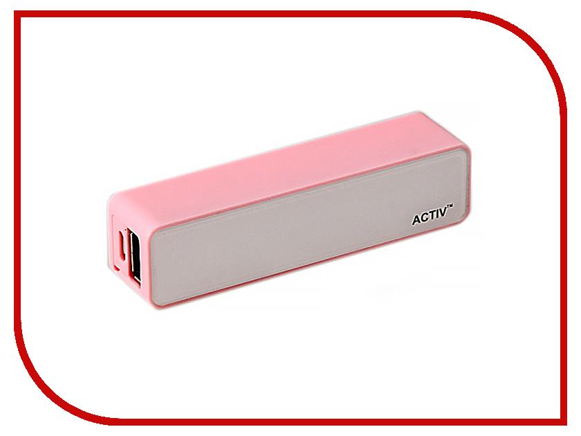Аккумулятор Activ ACT-PB02 2600 mAh Pink SBS2000MAH 30286
