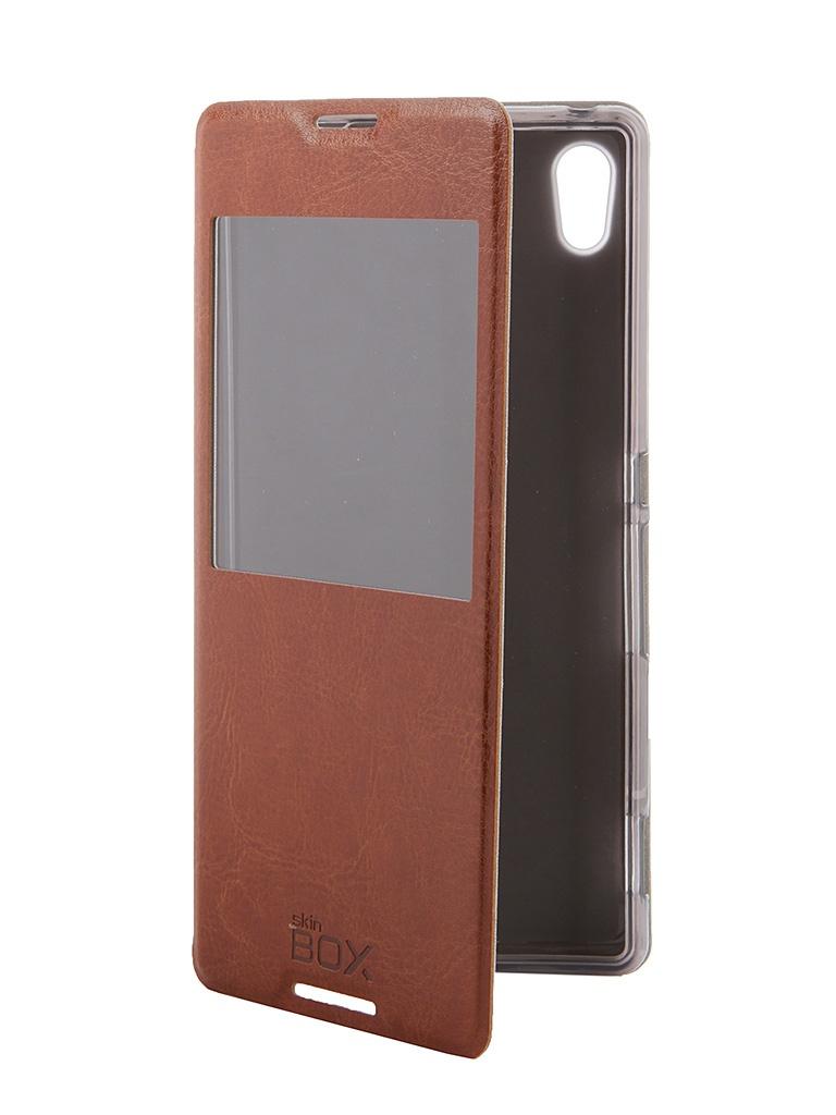 Аксессуар Чехол Sony Xperia Z3+ SkinBox Lux AW Brown T-S-SXZ3P-004<br>