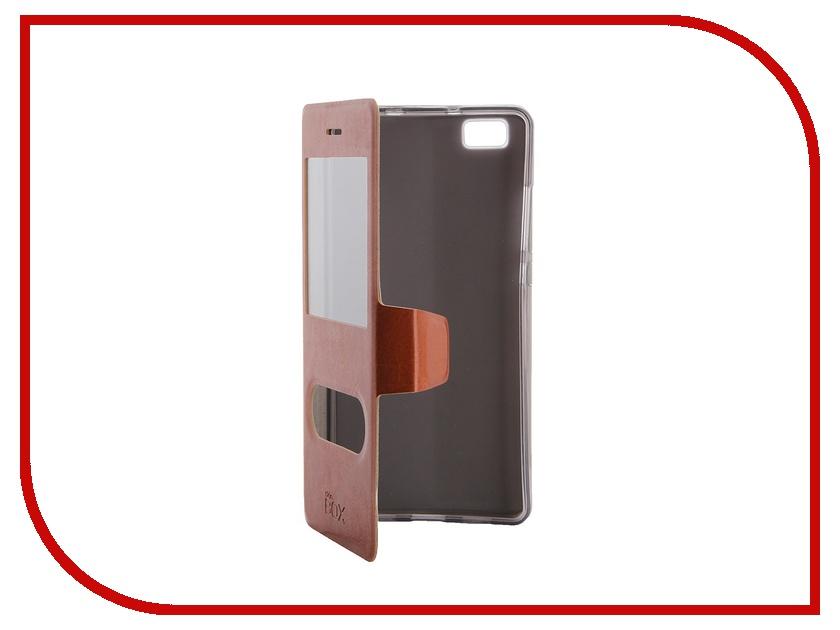 Аксессуар Чехол Huawei P8 Lite SkinBox Lux AW Brown T-S-HP8L-004