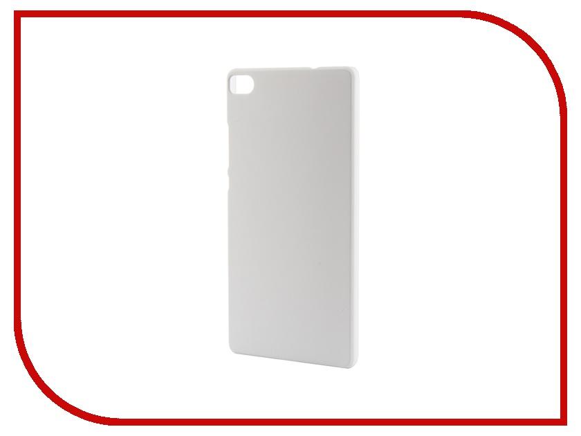 Аксессуар Чехол-накладка Huawei P8 SkinBox 4People White T-S-HP8-002 + защитная пленка<br>