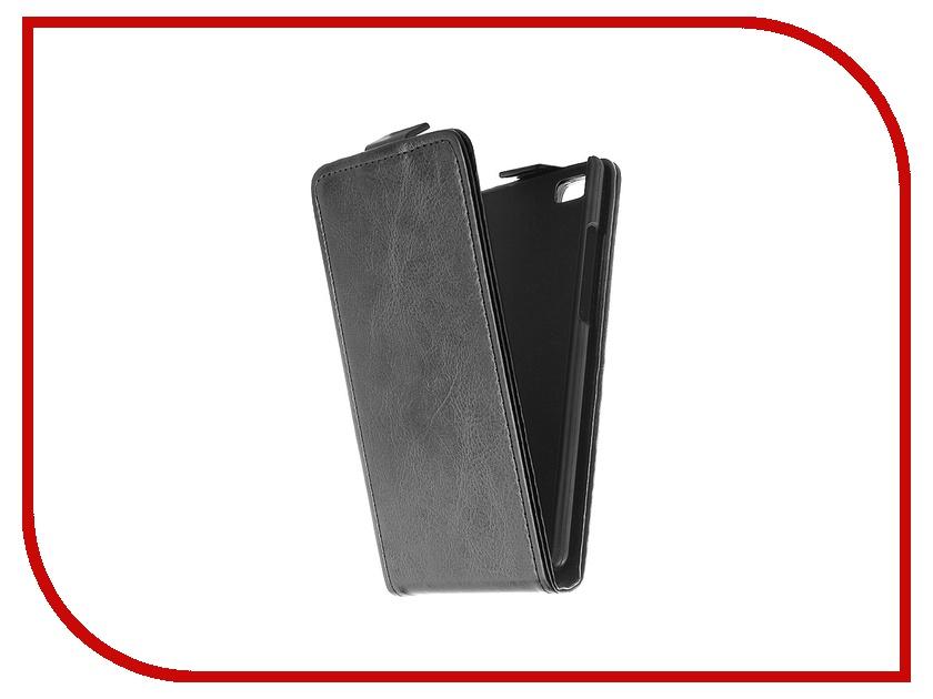 Аксессуар Чехол-флип Huawei P8 Lite SkinBox Black T-F-HP8L<br>