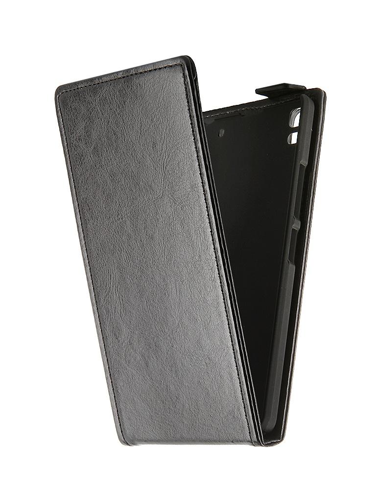 Аксессуар Чехол-флип Lenovo A7000 SkinBox Black T-F-LA7000